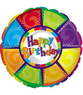 "31"" Happy Birthday Colourful Pieces Packaged"