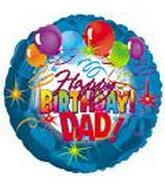 "17"" Happy Birthday Dad Packaged"