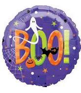 18&#39&#39 Halloween Boo! Purple Balloon