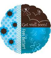 "17"" Butterfly Get Well Foil Balloon"
