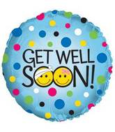 "17"" Get Well Soon Smileys Foil Balloon"