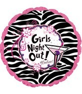 "17"" Girls Night Out Woohoo! Balloon Packaged"