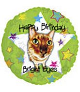 "18"" Happy Birthday Bright Eyes Cat"
