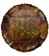 """World&#39s Class Boss"" World Map Boss&#39 Day Airfill Balloon"