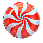 "18"" Candy Peppermint Red Balloon"