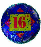 "18"" Happy 16th Birthday Streamers"