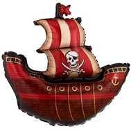 "40"" Pirate Ship Crossed Skull Jumbo Balloon"