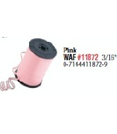 Pink 3/16 Curling Ribbon Plain (no ribbing)