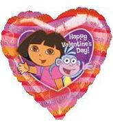 "18"" Dora & Boots Happy Valentine&#39s Day"