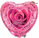 "36"" Jumbo Pink Happy Mother&#39s Day Balloon"