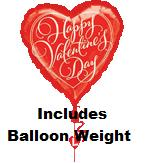 "32"" Happy Valentine&#39s Day Drop A Line (Weight)"
