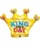 "38"" King for a Day Crown Balloon"