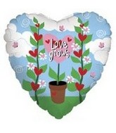 "18"" Love Grows Pot Flower Heart"