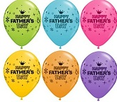 "11"" Fathers Day  Crown Latex  Assortment Balloons"
