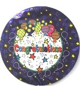 "9"" Airfill Congratulations Party Balloon"