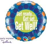 "18"" Get Ready to Get Well Soon Balloons"