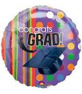 "18"" Rainbow Grad Balloon"