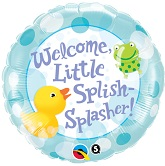 "18"" Welcome Little Splish Splasher  Balloon"