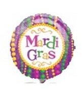 "9"" Mardi Gras Beads Balloon"