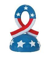 3OZ Rubber Patriotic Ribbon Weight