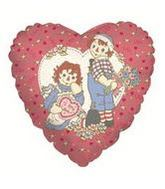 "9"" Airfill Balloon RAGGEDY ANN/ANDY LOVE"