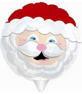 "9"" Airfill Only Smiling Santa Balloon"
