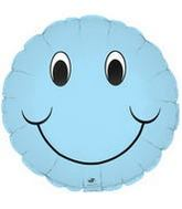 "9"" Airfill Smiley Face Pastel Blue"
