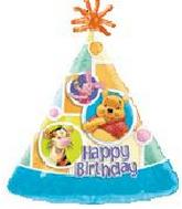 "18"" Winnie the Pooh Happy Birthday Personalize with stickers"