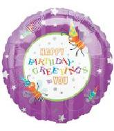 "18"" Happy Birthday Greeting Fireflies"