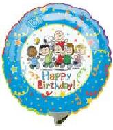 "9"" Airfill Happy Birthday Peanuts Gang"