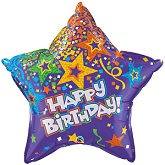 "36"" Birthday Star Purple Balloon"