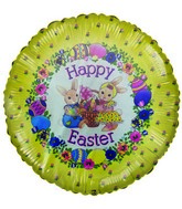 "Easter Bunnies ""Happy Easter"" Airfill Balloon (PRINT DAMAGE)"