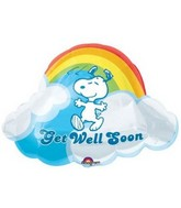 "24"" Jumbo Peanuts &#39Get Well Soon&#39 Mylar Balloon"