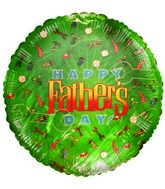 "9"" HFD Themed Green Airfill Mylar Balloon(PRINT DAMAGE)"