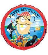 "18"" Gold-Tooth Pirate Birthday Slightly Damaged Print"