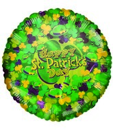 Happy Patrick&#39s Day Hats & Shamrocks Airfill Balloon