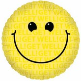 "18"" Get Well Smiley Face Balloon"