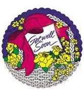 "18"" Get Well Flower White Whicker Basket"