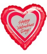 "18"" Happy Valentine&#39s Day Silver Hearts"