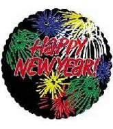 "18"" Happy New Fireworks 5B536"