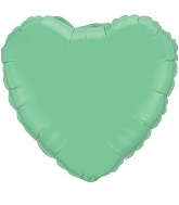 "18"" Mint Green Heart Foil Balloon Qualatex"