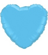 "18"" Pastel Blue Heart Foil Balloon Qualatex"