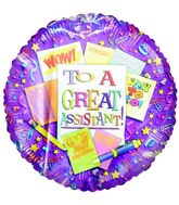 """To a Great Assistant"" Assistant&#39s Day Airfill Balloon"