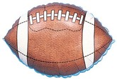 "18"" Football Single Sided Mylar Balloon"
