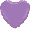 "18"" Spring Lilac Plain Heart Foil Balloon"