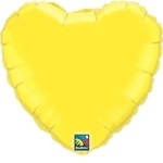 "18"" Yellow Heart Foil Balloon"