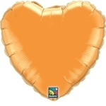 "18"" Orange Heart Foil Balloon"