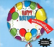 "18"" Happy Birthday Personalized with Stickers"
