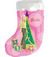 "26"" Barbie Stocking Shape Balloon"