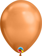 "11"" Copper Chrome 100 Count Qualatex Latex Balloons"